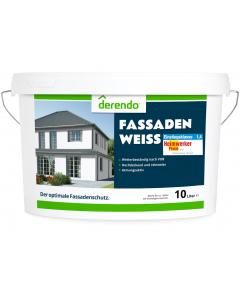 Derendo Fassadenfarbe weiß - 10 Liter